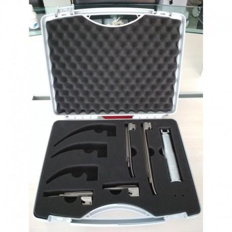 KaWe Laryngoscope set with 4 blades Miller 0-1-2-3